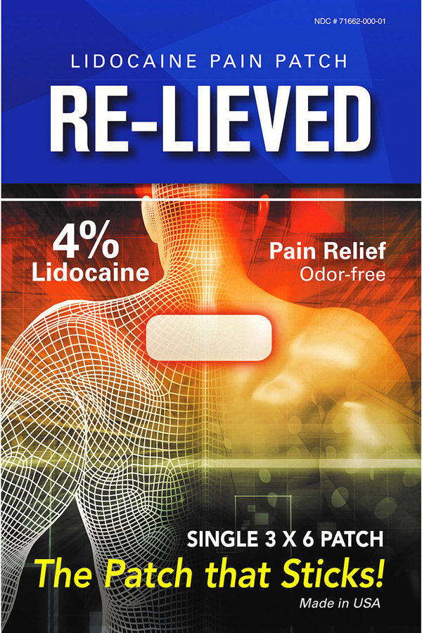 Re-Lieved Lidocaine Pain Relief Patch